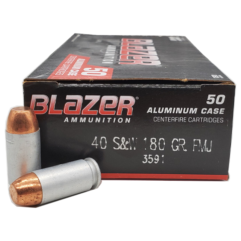 40 S&W - CCI Blazer 180 Grain Full Metal Jacket