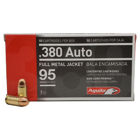 380 Auto - Aguila 95 Grain Full Metal Jacket
