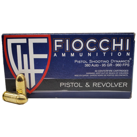 380 Auto - Fiocchi Shooting Dynamics 95 Grain FMJ