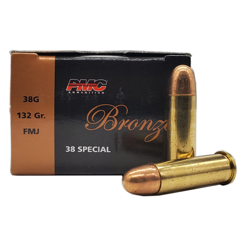 38 Special - PMC Bronze 132 Grain Full Metal Jacket