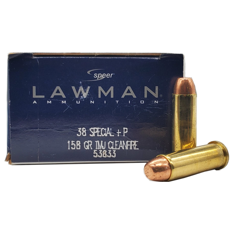 38 Special - Speer Lawman 158 Grain +P TMJ