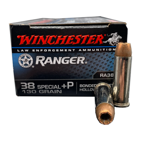 38 Special - Winchester Ranger 130 Grain +P Bonded JHP