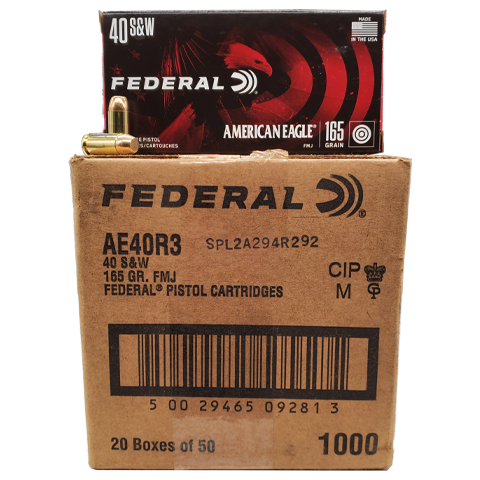 40 S&W - Federal American Eagle 165 Grain FMJ Case