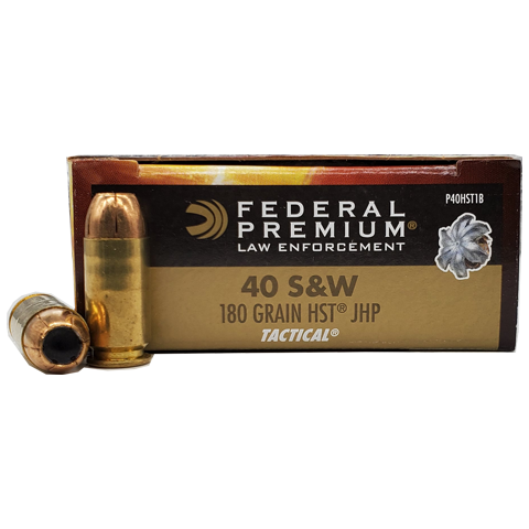 40 S&W - Federal Brass HST LE 180 Grain JHP