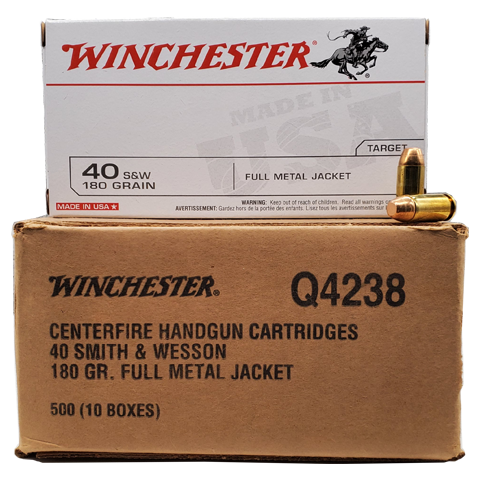 40 S&W - Winchester USA 180 Grain FMJ Case