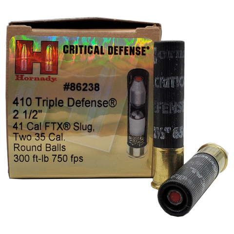 "410 Gauge - Hornady Critical Defense 2.5"" Triple Defense"