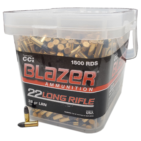 22 Long Rifle - CCI Blazer 38 Grain LRN Bucket