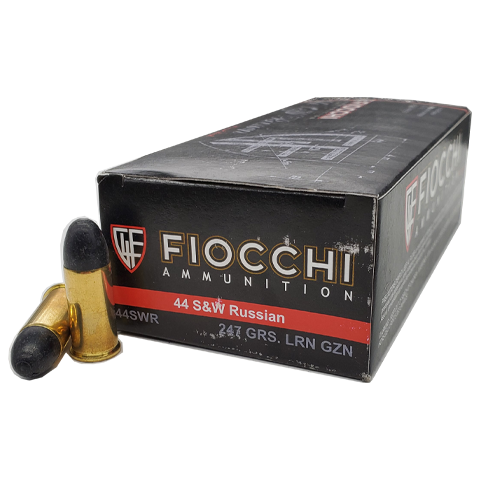 44 S&W Russian - Fiocchi 247 Grain Lead Round Nose