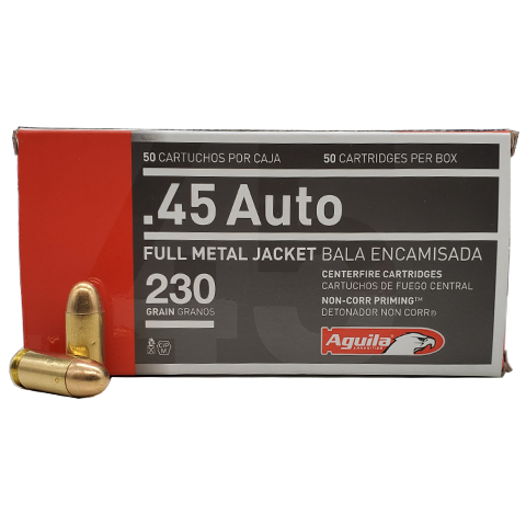 45 Auto - Aguila 230 Grain Full Metal Jacket