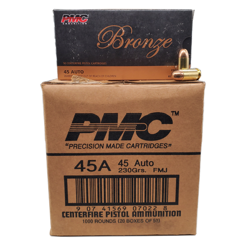 45 Auto - PMC Bronze 230 Grain FMJ 1000rd Case