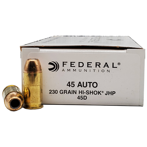 45 Auto - Federal 230 Grain Hi-Shok Jacketed Hollow Point
