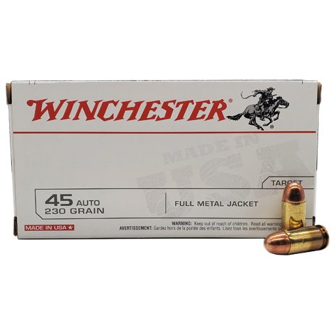 45 Auto - Winchester USA 230 Grain Full Metal Jacket
