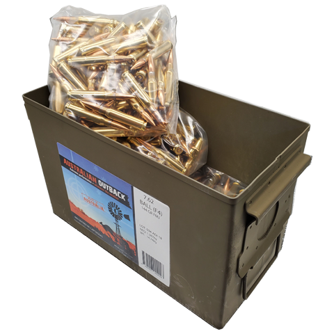 7.62x51 Nato - ADI 144 Grain Full Metal Jacket Can