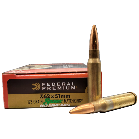 7.62x51 NATO  - Federal Premium 175 Grain Gold Medal Match