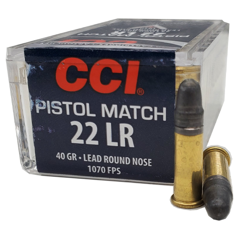 22 Long Rifle - CCI 40 grain Pistol Match LRN