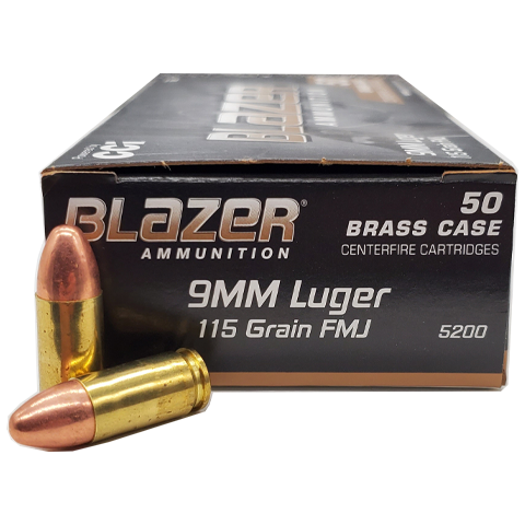 9mm - CCI Blazer 115 GR. Full Metal Jacket