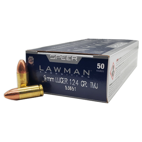 9mm - Speer Lawman 124 Grain TMJ