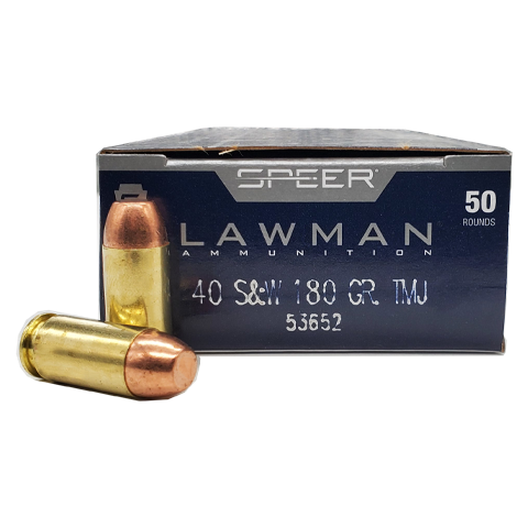 40 S&W - Speer Lawman 180 Grain Total Metal Jacket