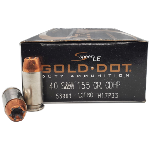 40 S&W - Speer LE Gold Dot 155 Grain JHP