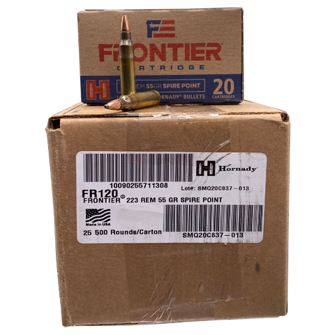 223 Rem - Hornady Frontier 55 Gr. Spire Point Self Defense