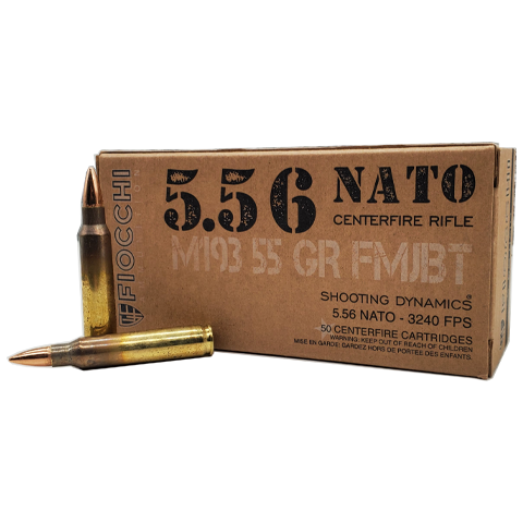 5.56 Nato - Fiocchi Shooting Dynamics 55 Grain FMJ