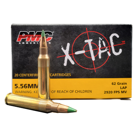 5.56 Nato - PMC X-Tac 62 Grain Green Tip