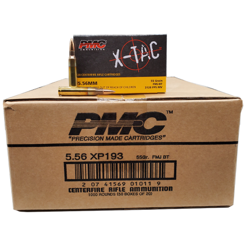 5.56 Nato - PMC X-Tac 55 Grain Full Metal Jacket Case