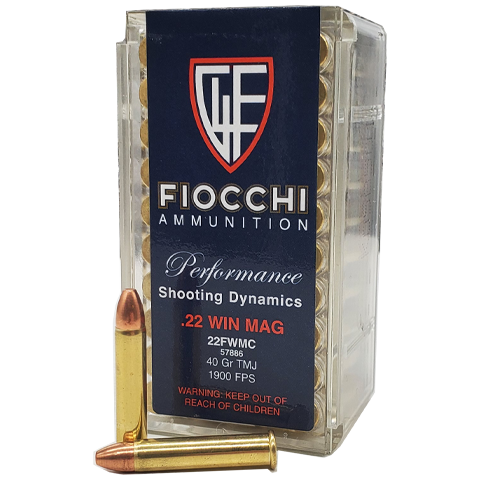 22 magnum - Fiocchi Performance 40 Grain Total Metal Jacket