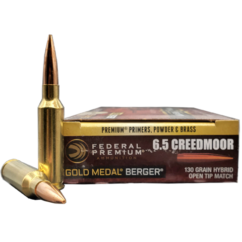 6.5 Creedmoor - Federal 130 Grain Gold Medal Berger OTM