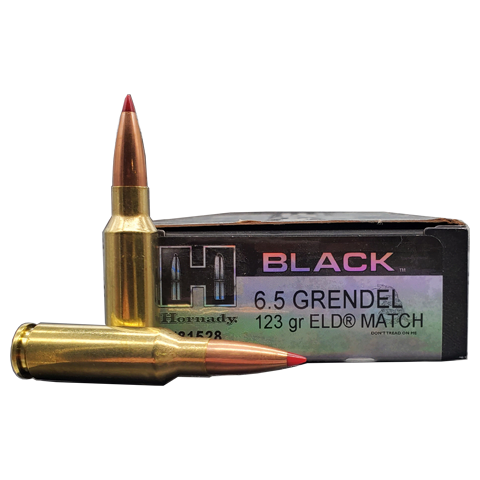 6.5 Grendel - Hornady Black 123 Grain ELD Match