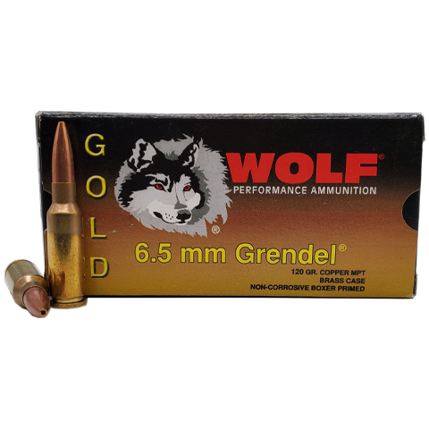 6.5 Grendel - Wolf Gold 120 Grain Hollow Point