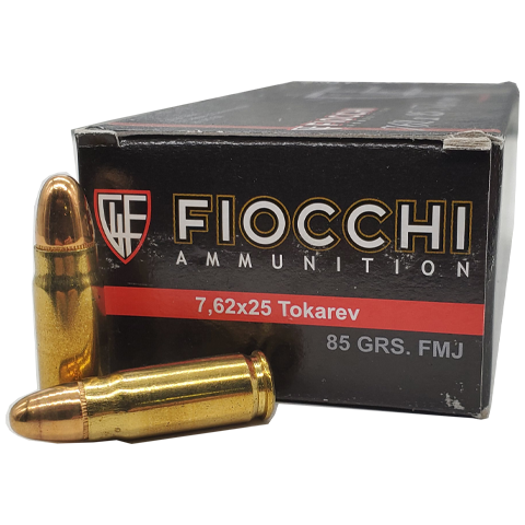 7.62 Tokarev - Fiocchi Classic Loads 85 Grain Full Metal Jacket