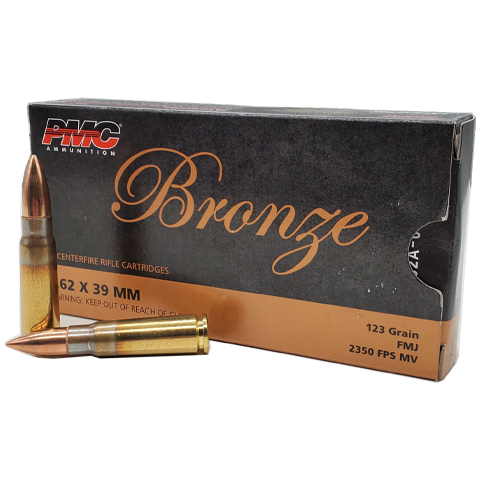 7.62x39 - PMC Bronze 123 Grain Full Metal Jacket