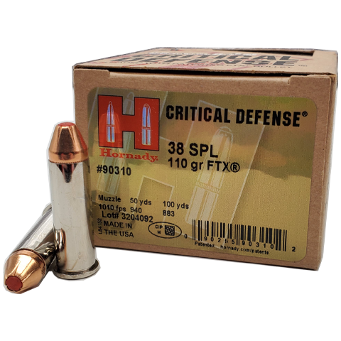 38 Special - Hornady Critical Defense 110 Grain FTX