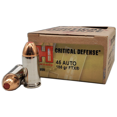 45 Auto - Hornady Critical Defense 185 Grain FTX JHP