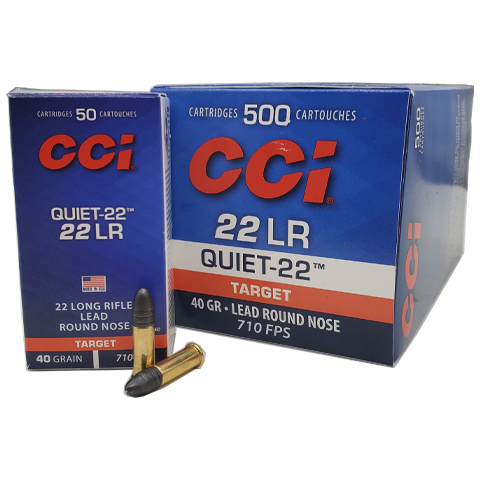 22 Long Rifle - CCI Quiet 40 Grain Lead Round Nose