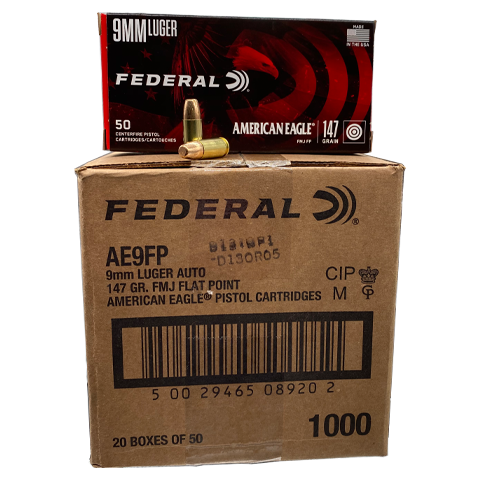 9mm - Federal American Eagle 147 Grain FMJ