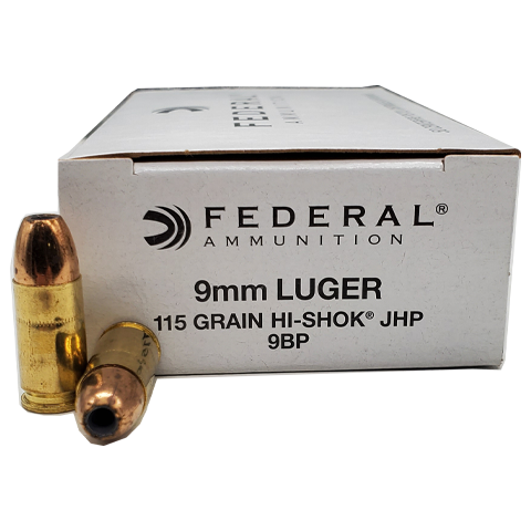 9mm - Federal Hi-Shok LE 115 Grain JHP