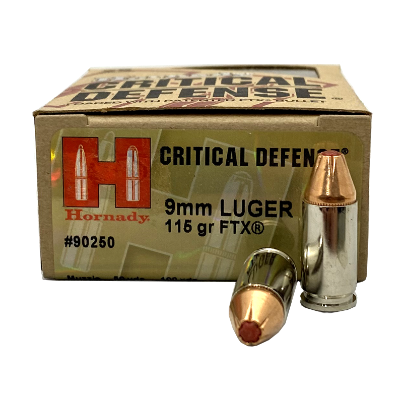 9mm - Hornady Critical Defense 115 Grain FTX JHP