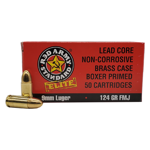 9mm - Red Army Standard Elite 124 Grain FMJ