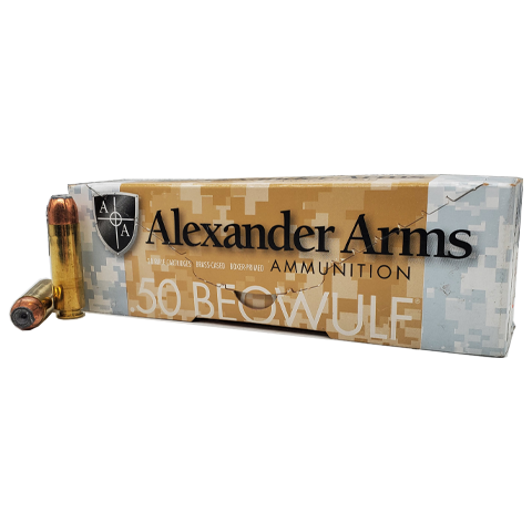 50 Beowulf - Alexander Arms 325 Grain Speer HP