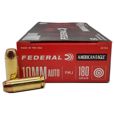 10mm - Federal American Eagle 180 Grain FMJ
