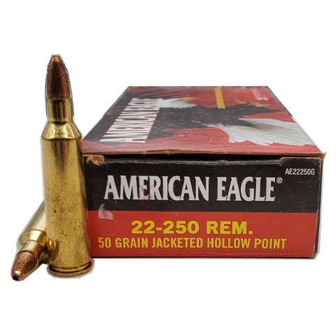 22-250 Rem - Federal American Eagle 50 Grain JHP
