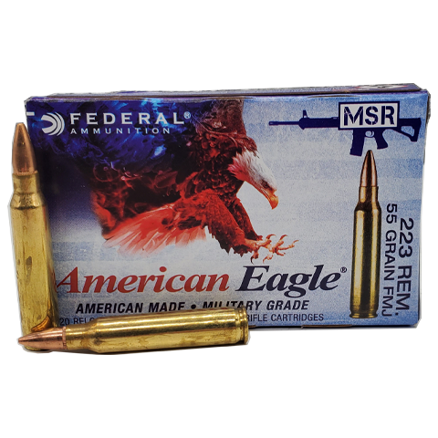223 Rem - Federal American Eagle 55 Grain Full Metal Jacket