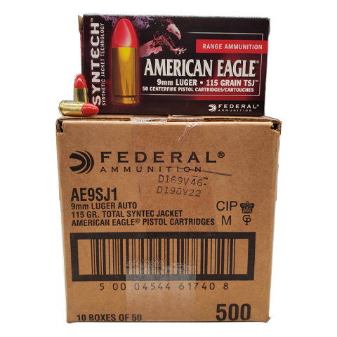 9mm - Federal Syntech Range 115 Grain TSJ Case