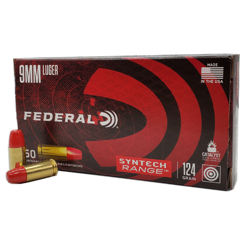 9mm - Federal Syntech Range 124 Grain TSJ