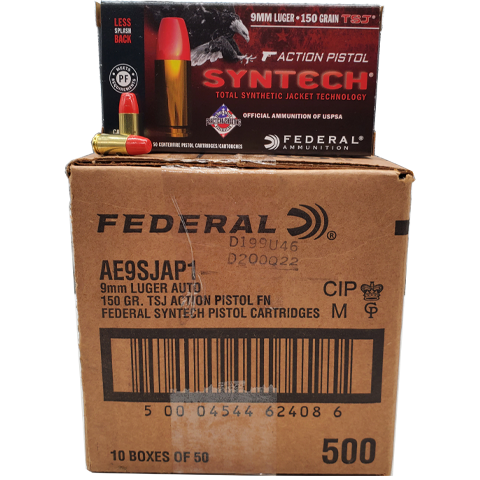 9mm - Federal Syntech Action Pistol 150 Grain TSJ Case