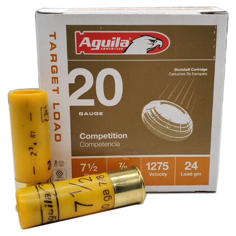 "20 Gauge - Aguila 2-3/4"" Competition 7-1/2 Shot Target Load"