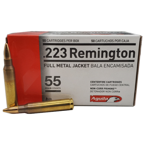 223 Rem - Aguila 55 Grain Full Metal Jacket