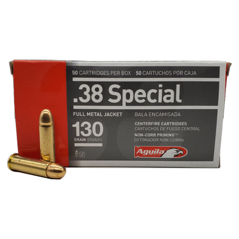 38 Special - Aguila 130 Grain Full Metal Jacket